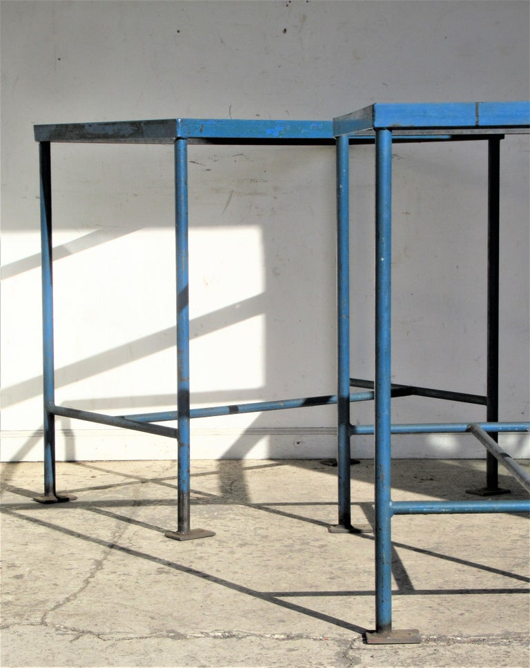 Antique American Industrial Architectural Iron Tables In Good Condition For Sale In Rochester, NY