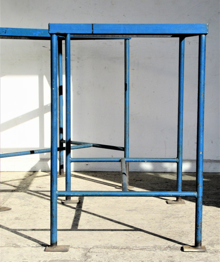 20th Century Antique American Industrial Architectural Iron Tables For Sale