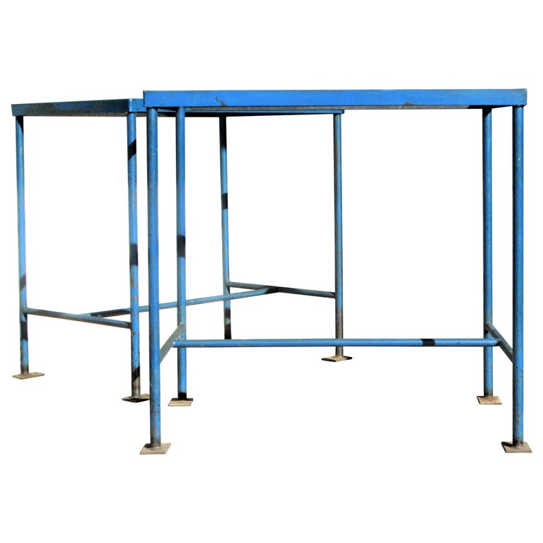 Antique American Industrial Architectural Iron Tables For Sale