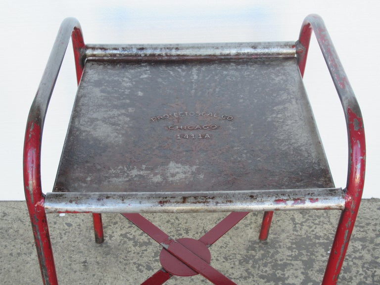 Antique American Industrial Iron Tables For Sale 5