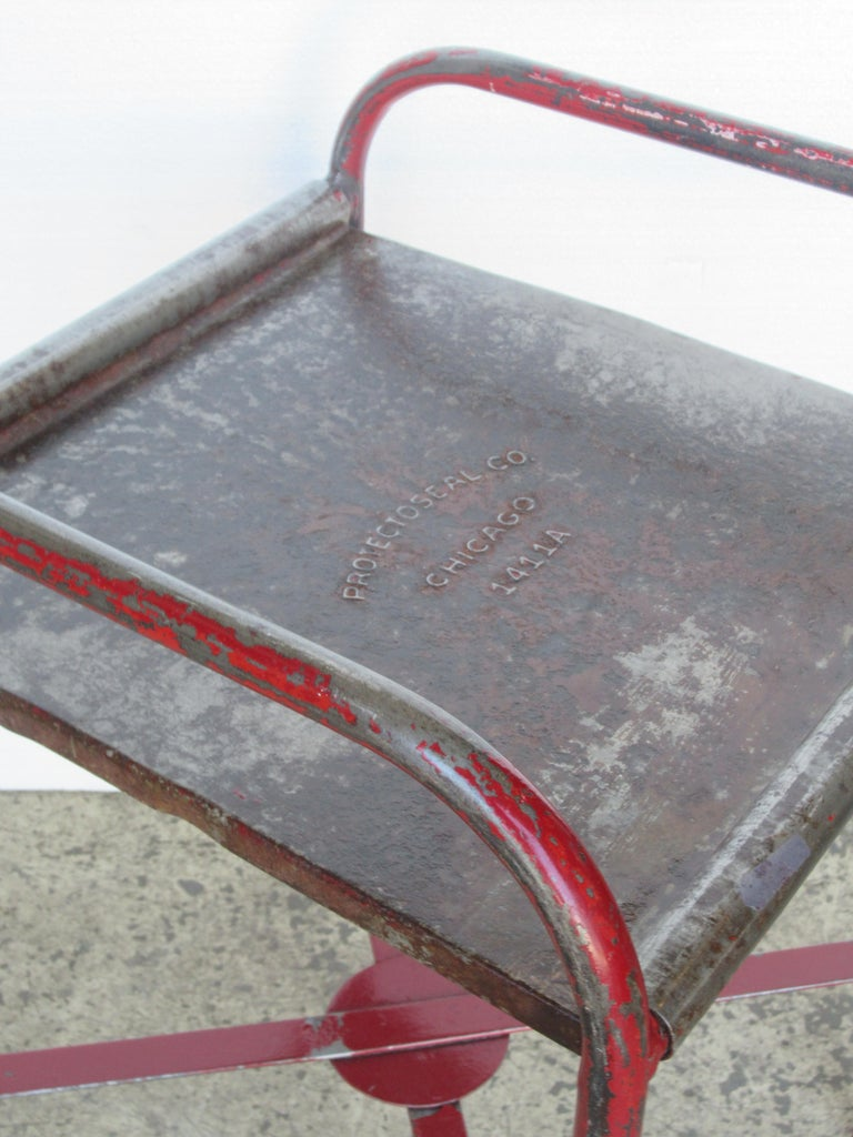 Antique American Industrial Iron Tables For Sale 6