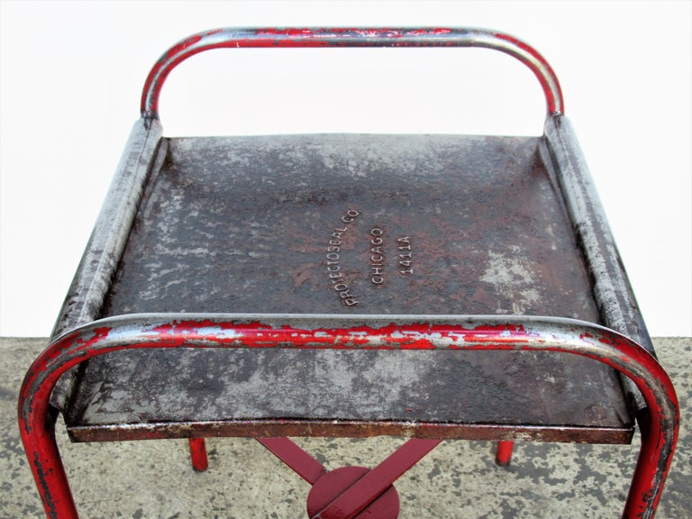 Antique American Industrial Iron Tables For Sale 7