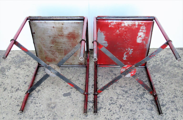 Antique American Industrial Iron Tables For Sale 11