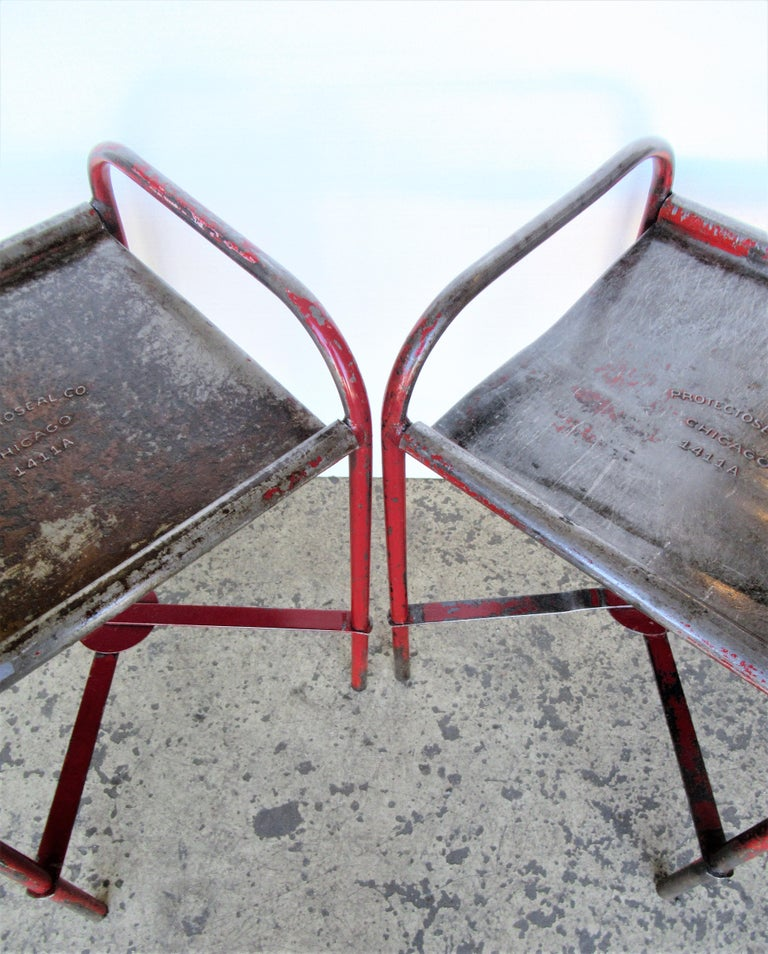 Antique American Industrial Iron Tables For Sale 13
