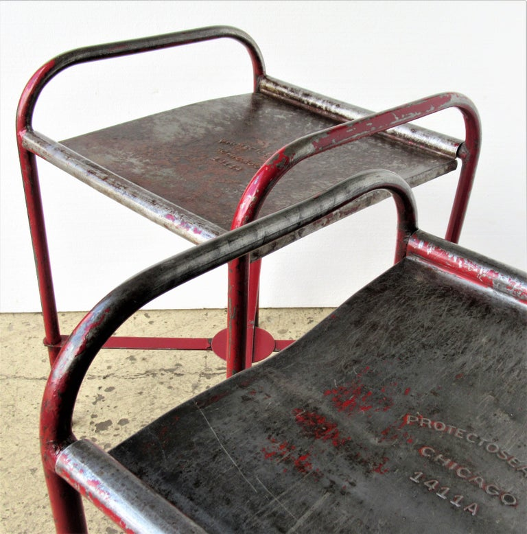 Antique American Industrial Iron Tables For Sale 14