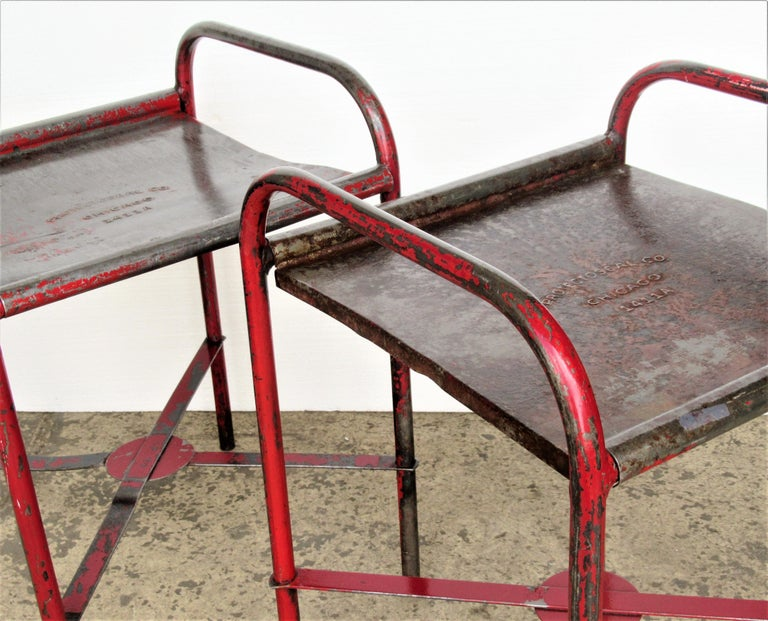 Antique American Industrial Iron Tables For Sale 15