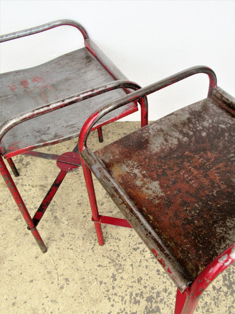 Antique American Industrial Iron Tables For Sale 16