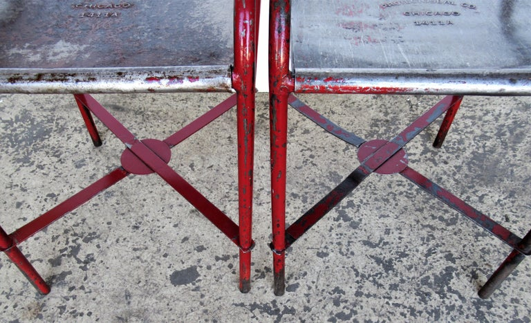 Antique American Industrial Iron Tables For Sale 1