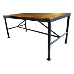 Antique American Industrial Work Table