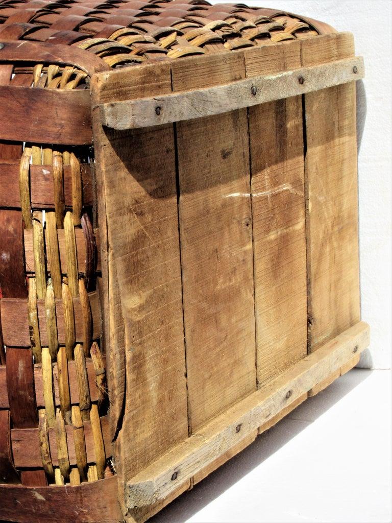 Antique  American Large Splint Basket, Circa 1900 For Sale 8