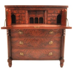 Antique American Mahogany Baltimore 'Butler's' Desk/Secretary Chest, circa 1820