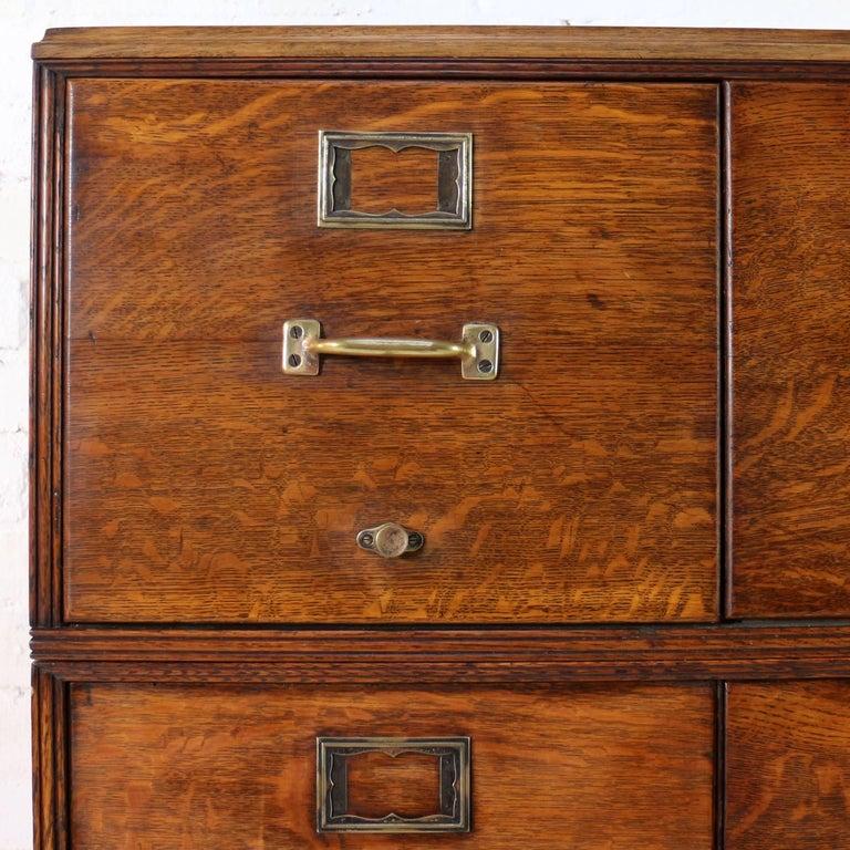 Antique American Oak Filing Cabinet, circa 1910 For Sale 1 - Antique American Oak Filing Cabinet, Circa 1910 At 1stdibs