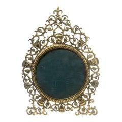 "Antique American ""P.E. Guerin, New York,"" Pierced Brass Picture Frame circa 1890"