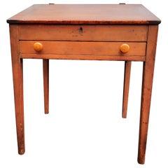 Antique American Pine Flip Top Desk