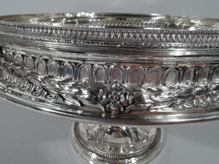 19th Century Antique American Sterling Silver Centerpiece Bowl on Plateau For Sale