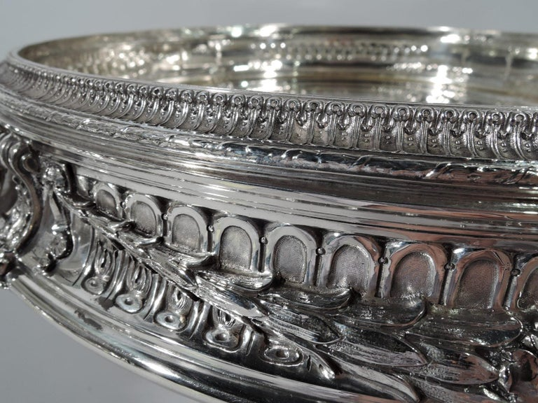 Antique American Sterling Silver Centerpiece Bowl on Plateau For Sale 1