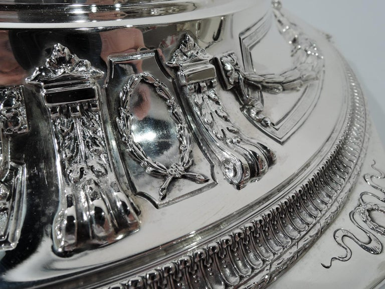 Antique American Sterling Silver Centerpiece Bowl on Plateau For Sale 4