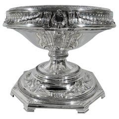 Antique American Sterling Silver Centerpiece Bowl on Plateau