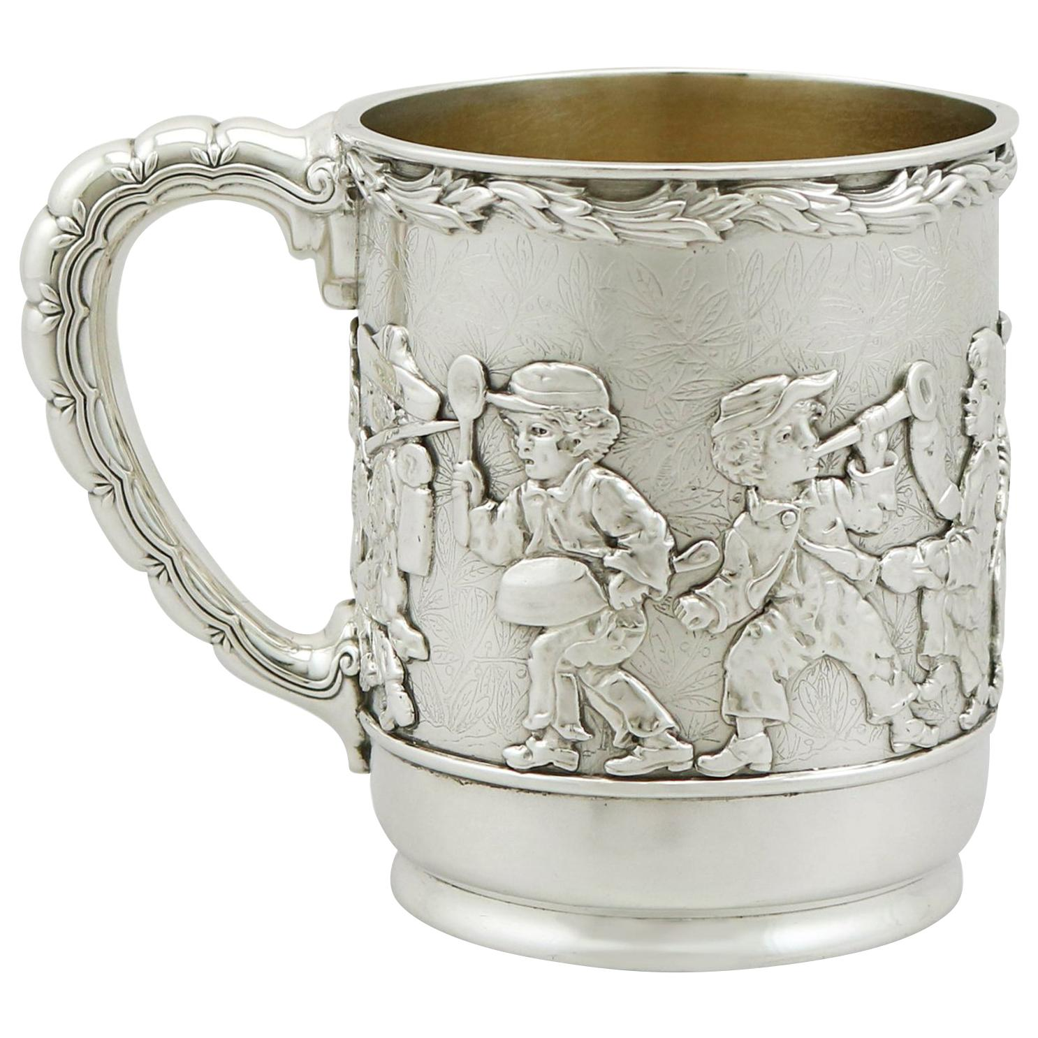 Antique American Sterling Silver Christening Mug by Tiffany & Co., 1879