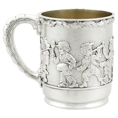 Antique American Sterling Silver Christening Mug by Tiffany & Co. 1879