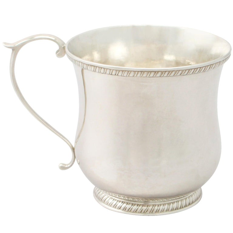 Antique American Sterling Silver Christening Mug For Sale
