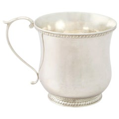 Antique American Sterling Silver Christening Mug