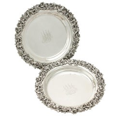Antique American Sterling Silver Coasters, circa 1900