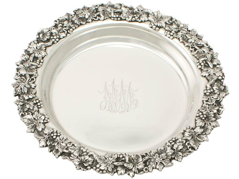 Early 20th Century 20th Century Antique American Sterling Silver Coasters, Circa 1900 For Sale
