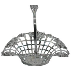 Antique American Sterling Silver Grape Basket by JE Caldwell