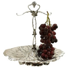 Antique American Sterling Silver Grape Stand Serving Dish Centrepiece, c. 1900