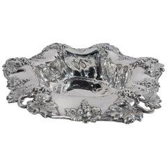 Antique American Sterling Silver Grapevine Centerpiece Bowl