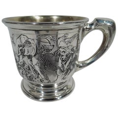 Antique American Sterling Silver Noah's Ark Baby Cup by Kerr