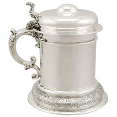 Antique American Sterling Silver Quart Tankard