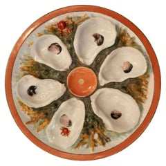 Antique American Union Porcelain Works Oyster Plate, circa 1880
