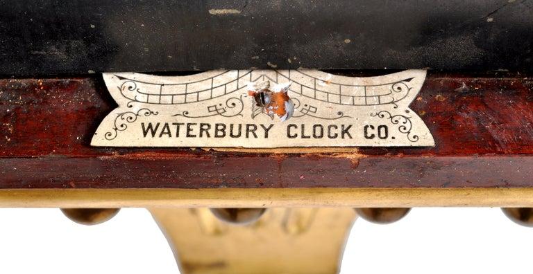 Antique American Waterbury Willard 8 day Églomisé