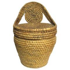 Antique Americana Pennsylvania Rye Straw Lidded Basket