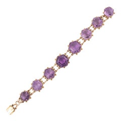 Antique Amethyst and Gold Bracelet