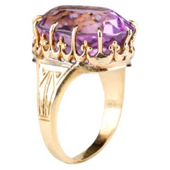 "Antique Amethyst ""Rose de France"" Ring"