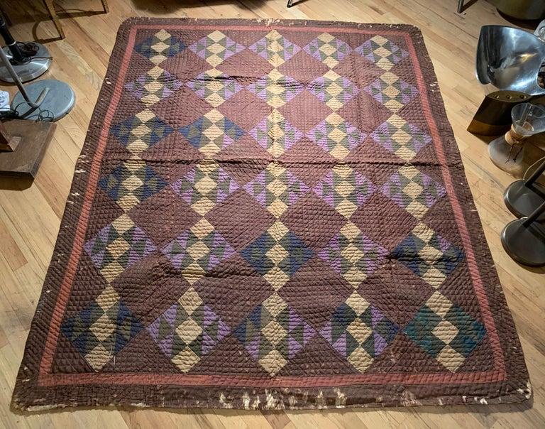 Antique Amish Quilt Blanket For Sale 1