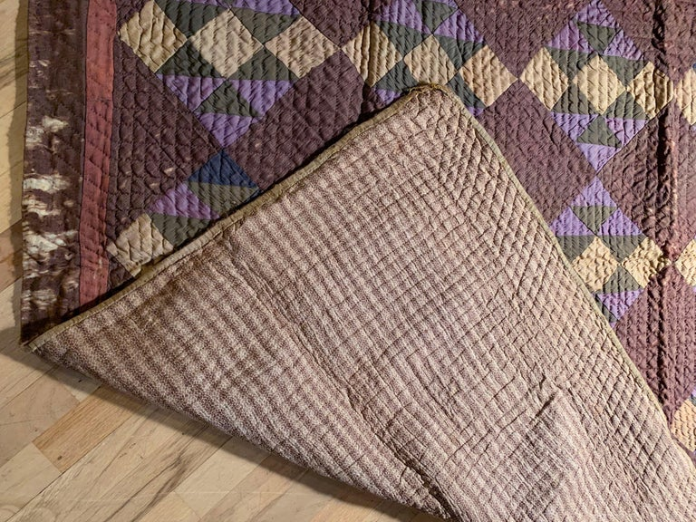 Antique Amish Quilt Blanket For Sale 2