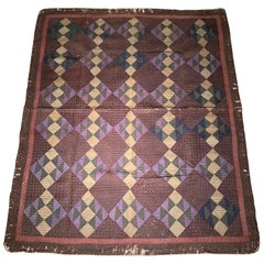 Antique Amish Quilt Blanket
