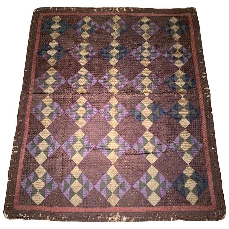Antique Amish Quilt Blanket For Sale