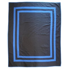 Antique Amish Quilt From Holmes Co., Ohio Plain Quilt