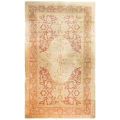 Antique Amritsar Transitional Beige and Burgundy Wool Rug