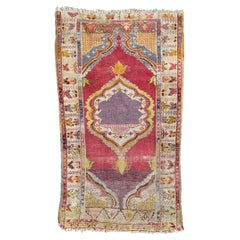 Antique Anatolian Turkish Prayer Rug