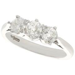 1.32 Carat Diamond Platinum Three-Stone Ring