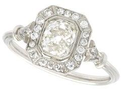 1.46 Carat Diamond and Platinum Ring