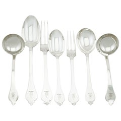 Antique and Vintage Sterling Silver Canteen of Cutlery for 12 Persons