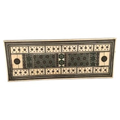 Antique Anglo-Indian Sadeli Cribbage Board