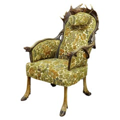 Antique Antler Easy Chair by H.F.C Rampendahl ca. 1880